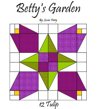 Betty's Garden Pattern 12 - Tulip  Pattern - StoryQuilts.com