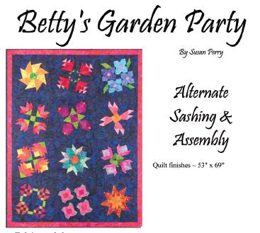 Betty's Garden Pattern 13A - Alternate Sashing and Assembly  Pattern - StoryQuilts.com