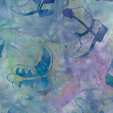 Western Batik Quilt Fabric Lilac Mist and Teal Purple Cowboy Boots  Fabric - StoryQuilts.com