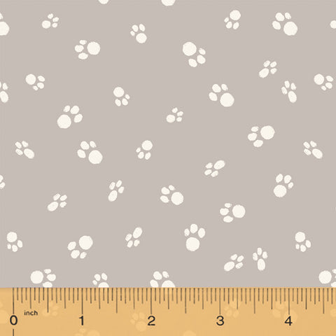 Catnip Grey Cat Paws - RESERVE*  Fabric - StoryQuilts.com