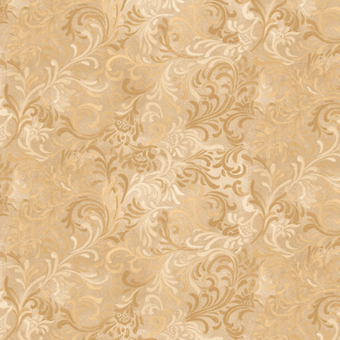 Tan Embellishment  Fabric - StoryQuilts.com
