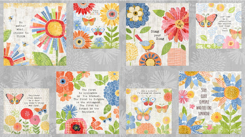 Sing Your Song Craft Block panel for quilt projects
