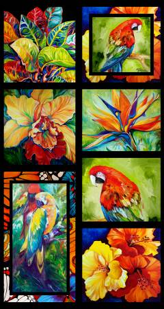 Rainforest Panel Digitally Printed  Fabric - StoryQuilts.com