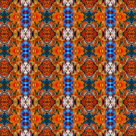 Orange Metamorphosis Digitally Printed  Fabric - StoryQuilts.com