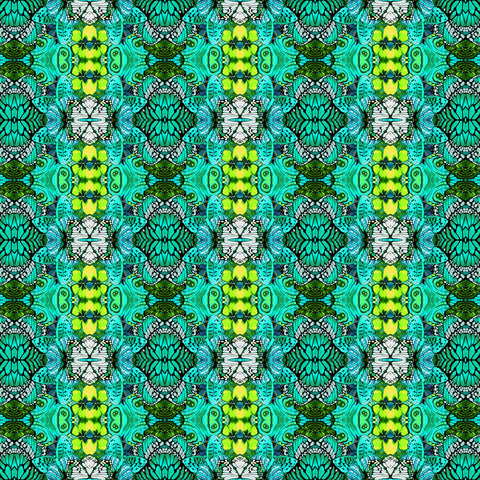 Jade Metamorphosis Digitally Printed  Fabric - StoryQuilts.com
