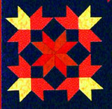 Galaxy Quest - 6 Heavenly Star  Pattern - StoryQuilts.com