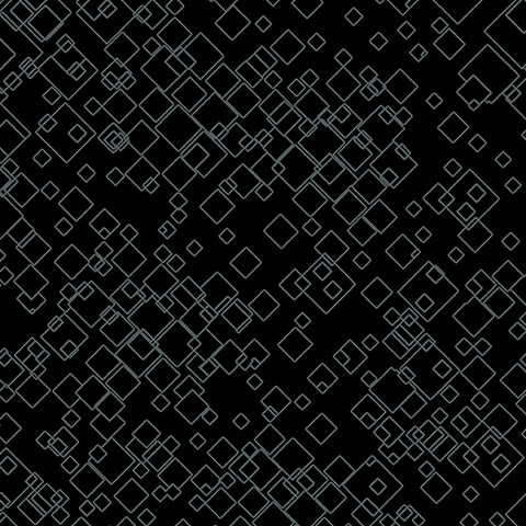 Black Tonal Squares  Fabric - StoryQuilts.com