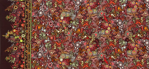 Effervescence Autumn Border  Fabric - StoryQuilts.com