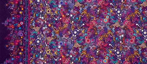 Effervescence Bright Multi Dots & Circles  Fabric - StoryQuilts.com