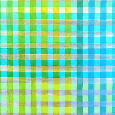 Sweet Hand Painted Gingham Batik  Fabric - StoryQuilts.com