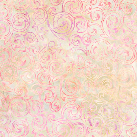 Copy of Artisan Batiks: Rosette - Natural Rose Vine  Fabric - StoryQuilts.com