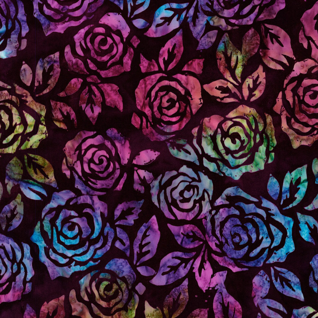 Artisan Batiks: Rosette - Jewel Rose  Fabric - StoryQuilts.com