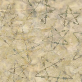 Western Batik Quilt Fabric Sand Barbed Star  Fabric - StoryQuilts.com