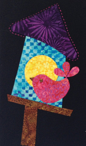 Woodland Critters - 5 Birdhouse  Pattern - StoryQuilts.com