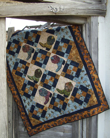 Boot Scootin'  Pattern - StoryQuilts.com