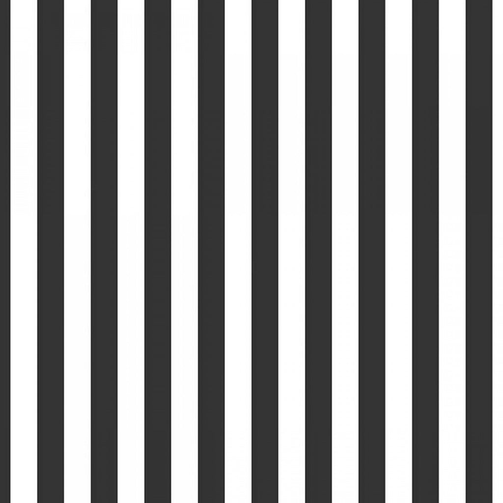 Half Inch Stripe Black  Fabric - StoryQuilts.com