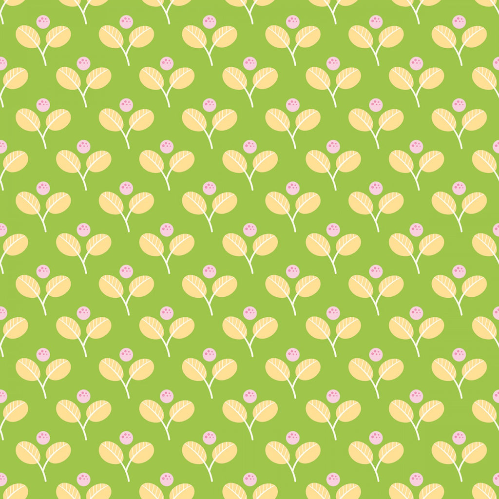 Jubilee Leaf Green  Fabric - StoryQuilts.com
