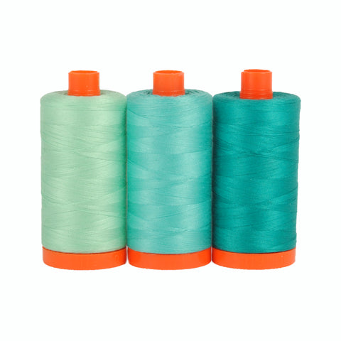 Color Builder 3pc Set Capri Teal  Thread - StoryQuilts.com