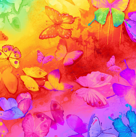 Bright Butterflies Digitally Printed