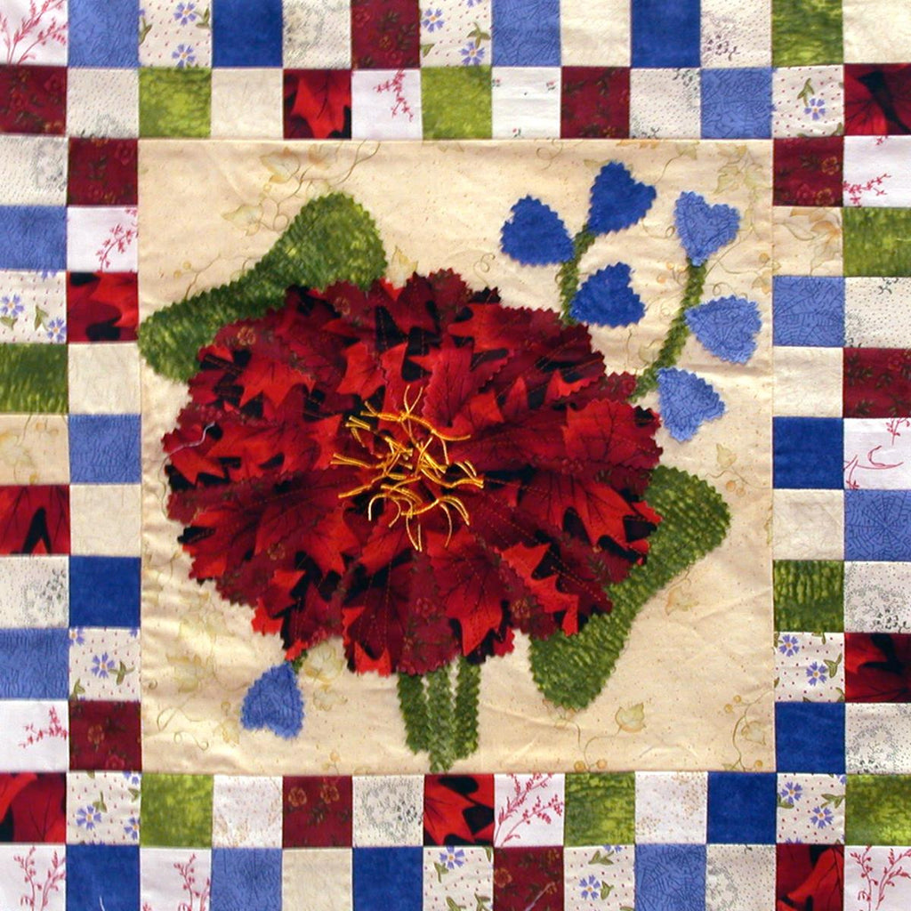 Mums for You - Checkerboard Flowers  Pattern - StoryQuilts.com