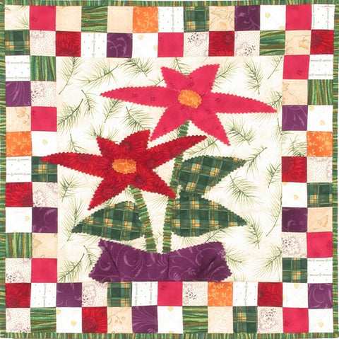 Pretty Points - Checkerboard Flowers  Pattern - StoryQuilts.com