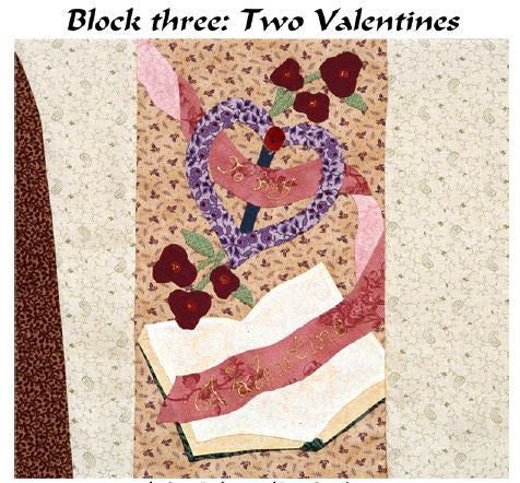 Charlie Kissed Me - Block 3  Pattern - StoryQuilts.com