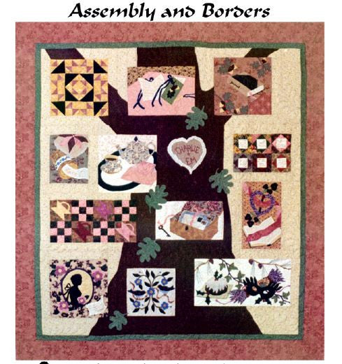 Charlie Kissed Me - Block 14 (Map and Borders)  Pattern - StoryQuilts.com