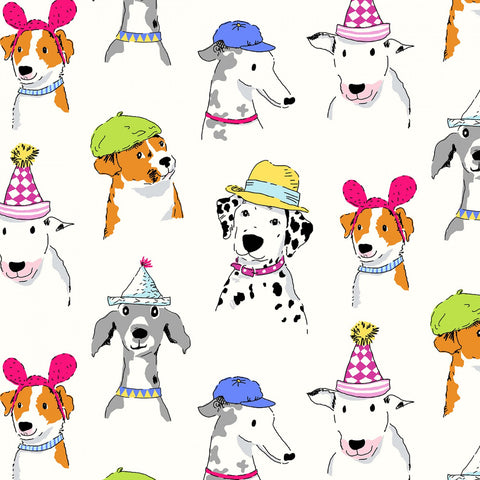 White Dog Show  Fabric - StoryQuilts.com