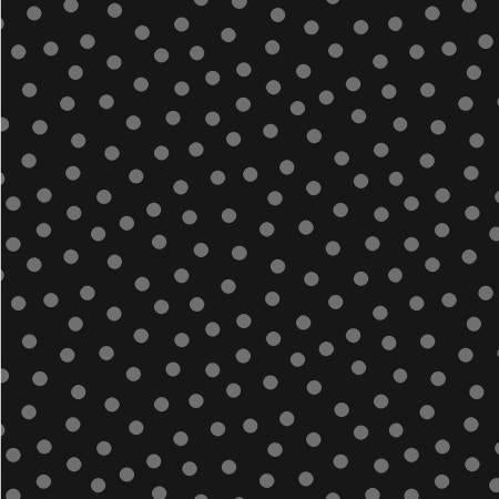 Charcoal Random Dot  Fabric - StoryQuilts.com
