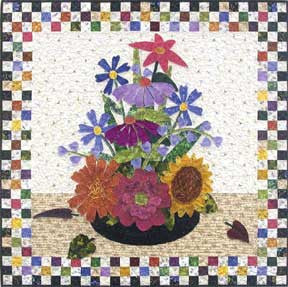 Checkerboard Bouquet  Pattern - StoryQuilts.com
