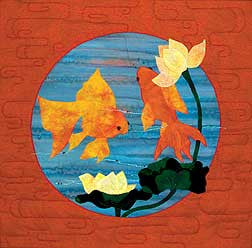 Chinese Goldfish  Pattern - StoryQuilts.com