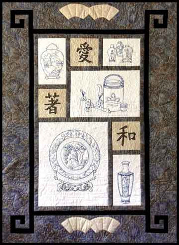 Chinese Porcelain  Pattern - StoryQuilts.com