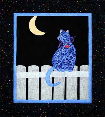 Moon Cat  Pattern - StoryQuilts.com