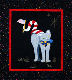 Patriotic Kitty  Pattern - StoryQuilts.com