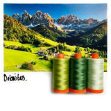 Color Builder 3pc Set Dolomites Green  Thread - StoryQuilts.com