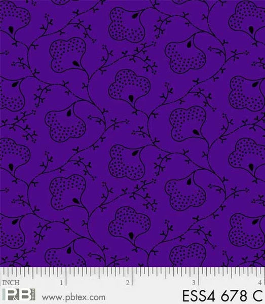 Purple Scroll Flowers -Bear Essentials 4