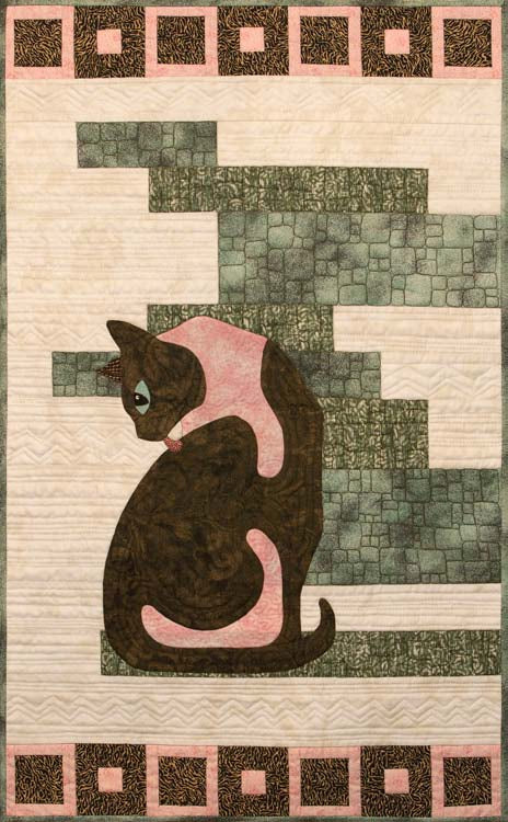 Finesse - Posh Cats  Pattern - StoryQuilts.com
