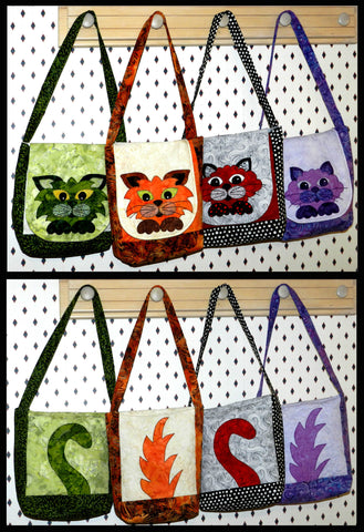 Heads or Tails Handbag  Pattern - StoryQuilts.com