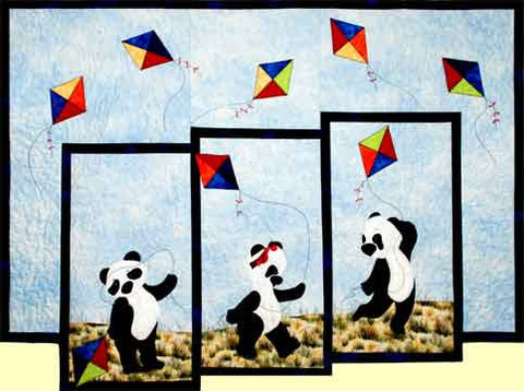 Panda Play  Pattern - StoryQuilts.com