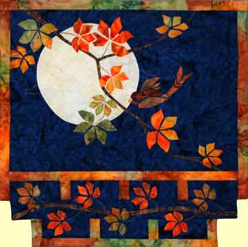 Autumn Moon  Pattern - StoryQuilts.com