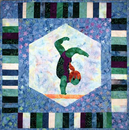 Turtle Gymnast  Pattern - StoryQuilts.com
