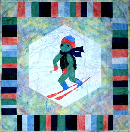 Turtle Skier  Pattern - StoryQuilts.com