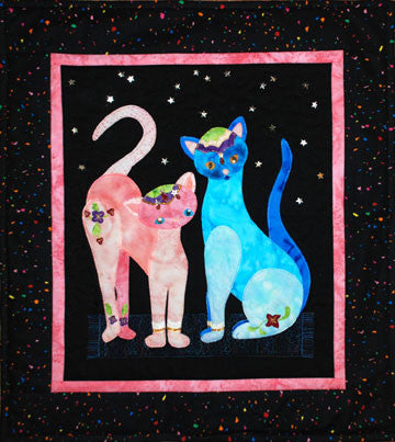 Bollywood Cats  Pattern - StoryQuilts.com