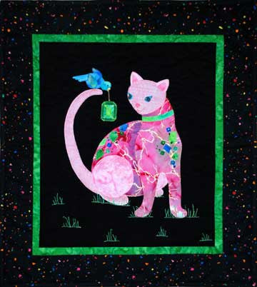 Glitter Kitty  Pattern - StoryQuilts.com