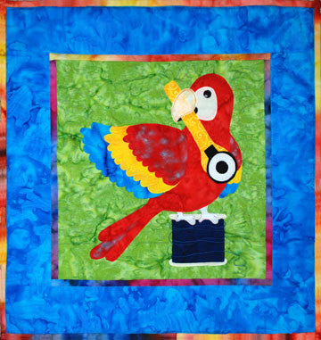Red Parrot - Sewing Birds  Pattern - StoryQuilts.com
