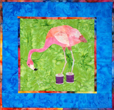 Flamingo - Sewing Birds  Pattern - StoryQuilts.com