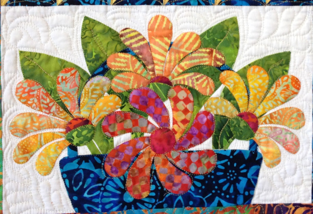 Flowers from Tangiers – Gerbera Daisy  Pattern - StoryQuilts.com