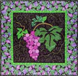 Kit - Grape Cluster  Pattern - StoryQuilts.com