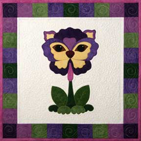 Pansy Faced Pooch  Pattern - StoryQuilts.com