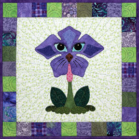Periwinkle Pound Hound  Pattern - StoryQuilts.com